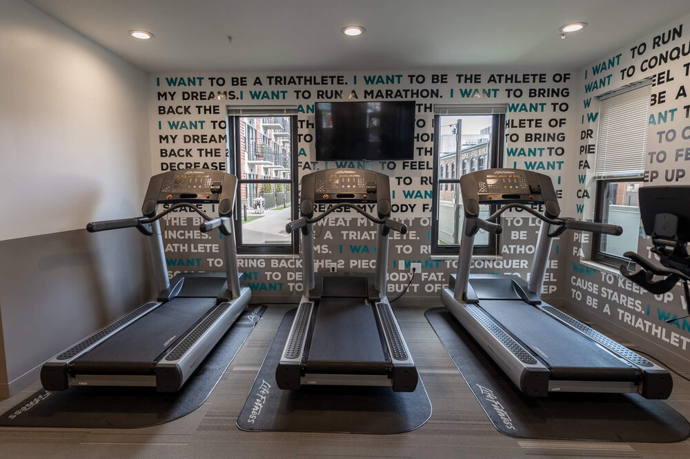 24/7 Fitness Center on 4th Floor accessed through controlled elevators 24/7 with a feature to buzz up guests via cell phone