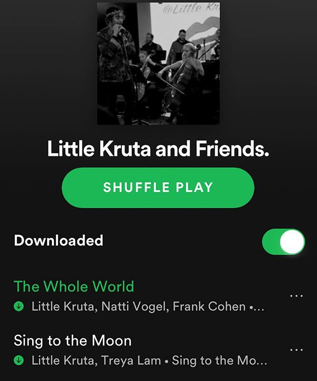 You can now easily follow all of our collaborations in just one place: our Spotify playlist! Follow the link in our story to subscribe, and melt into some string-orchestra-induced bliss 🎻💆🏼♀️💆🏾♂️🎻 #littlekruta #spotify #follow #musicislove #sundayvibes