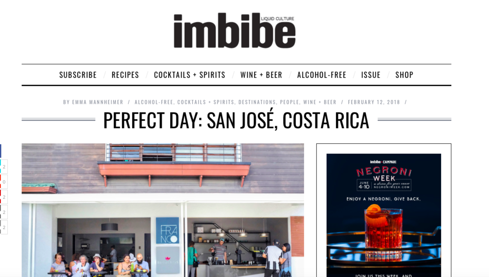Imbibe Magazine - My Perfect Day