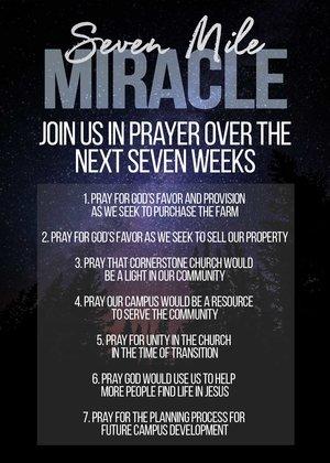 7 Mile Miracle Prayer — Cornerstone Bluffton