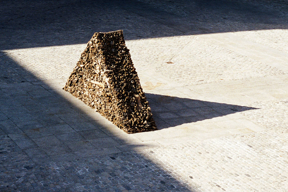 James Darling & Lesley Forwood,  Triangle 1 , 2002, Mallee roots, 2.5 x 5.0 x 1.0 m, Centro Cultural Conde Duque, Madrid, Spain