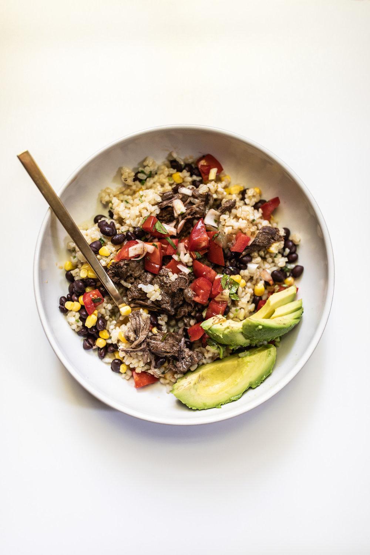 Beef Barbacoa Burrito bowl