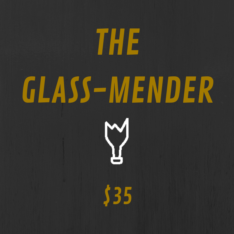 The Glass-Mender tier is the god tier of Fracture's patreon. It comes with all of the kick ass benefits. You get access to annotated scripts and bonus content such as Q&As and episode discussions. Plus, you get a cool sticker to place wherever you want.  In addition to that, you get a handwritten note sent to you from the creator of Fracture, Claire Wright, as well as a recorded, personalized shout out from the voice of Gwen Ortiz, Aela, herself! We even post it on social media for all to see.  Also, you receive a Fracture business card saying you're a supporting producer of the show. If anyone doubts you, we'll fight them. Pretty sweet, aye?  On top of all this sweet loot, you get a shout out at the beginning of an episode. Talk about the royal treatment.  Three words: Holy. Crap. T-SHIRT. That's right. If you donate $35 a month, we'll send you a t-shirt. You can display our logo on your body for all to see.  You'll be almost as cool as Gwen Ortiz herself. Almost.