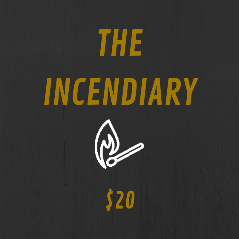 The Incendiary tier comes with some kick ass benefits. You get access to annotated scripts and bonus content such as Q&As and episode discussions. Plus, you get a cool sticker to place wherever you want.  In addition to that, you get a handwritten note sent to you from the creator of Fracture, Claire Wright, as well as a recorded, personalized shout out from the voice of Gwen Ortiz, Aela, herself! We even post it on social media for all to see.  Also, you receive a Fracture business card saying you're a supporting producer of the show. If anyone doubts you, we'll fight them. Pretty sweet, aye?