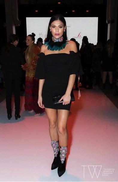 Wearing Helen Oro Designs at Toronto Fashion Week