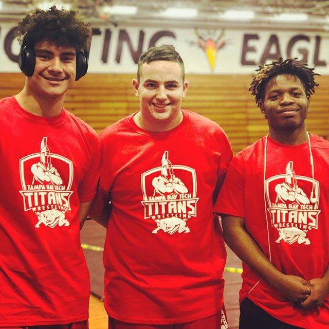 Proud of these 3 making it to regionals. Looking forward for a good day! #WinOrLearn #NeverLose #Titans #Wrestling #TitanPride 🤼♀️⚡️🤼♂️ #FHSAA 2A-R2 #Regionals