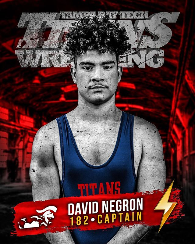 #Senior #Captain #DavidNegron #182 #WinOrLearn #NeverLose #Titans #Wrestling #TitanPride 🤼♀️⚡️🤼♂️ #FHSAA 2A-R2 #Regionals