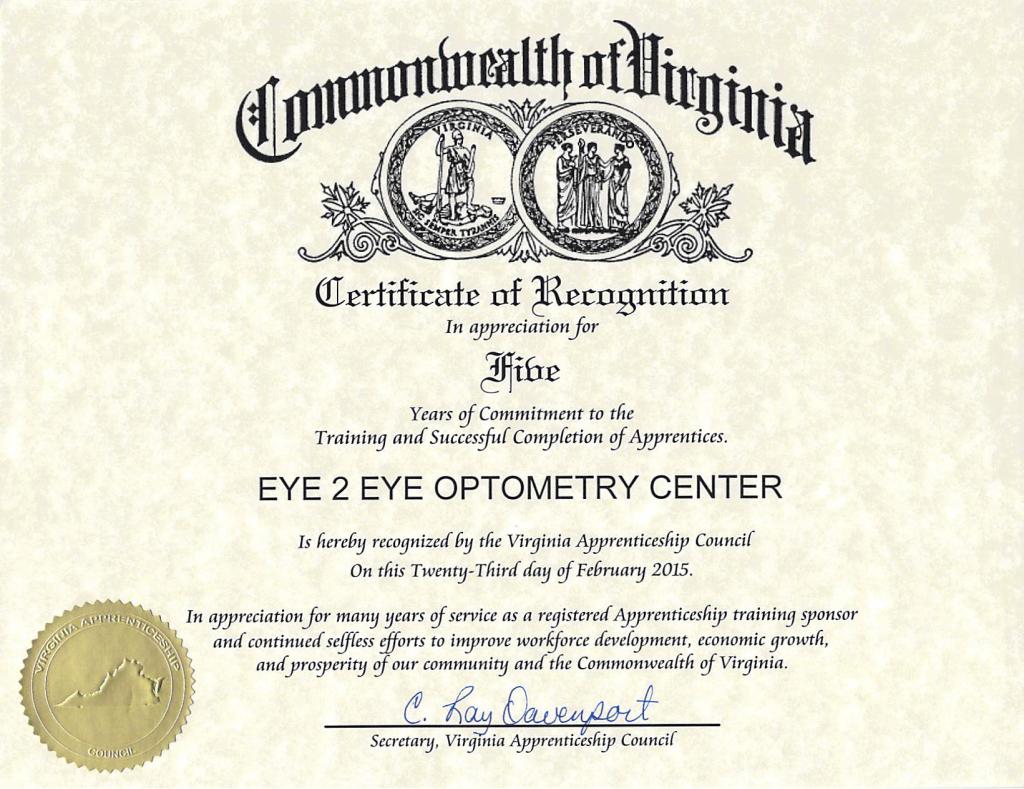 ABO certificate