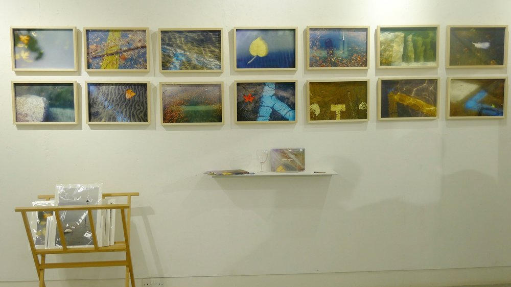 Rudolf Hummel's  Flooded Street  part of the Whitstable group exhibition. © Maggie Jarman