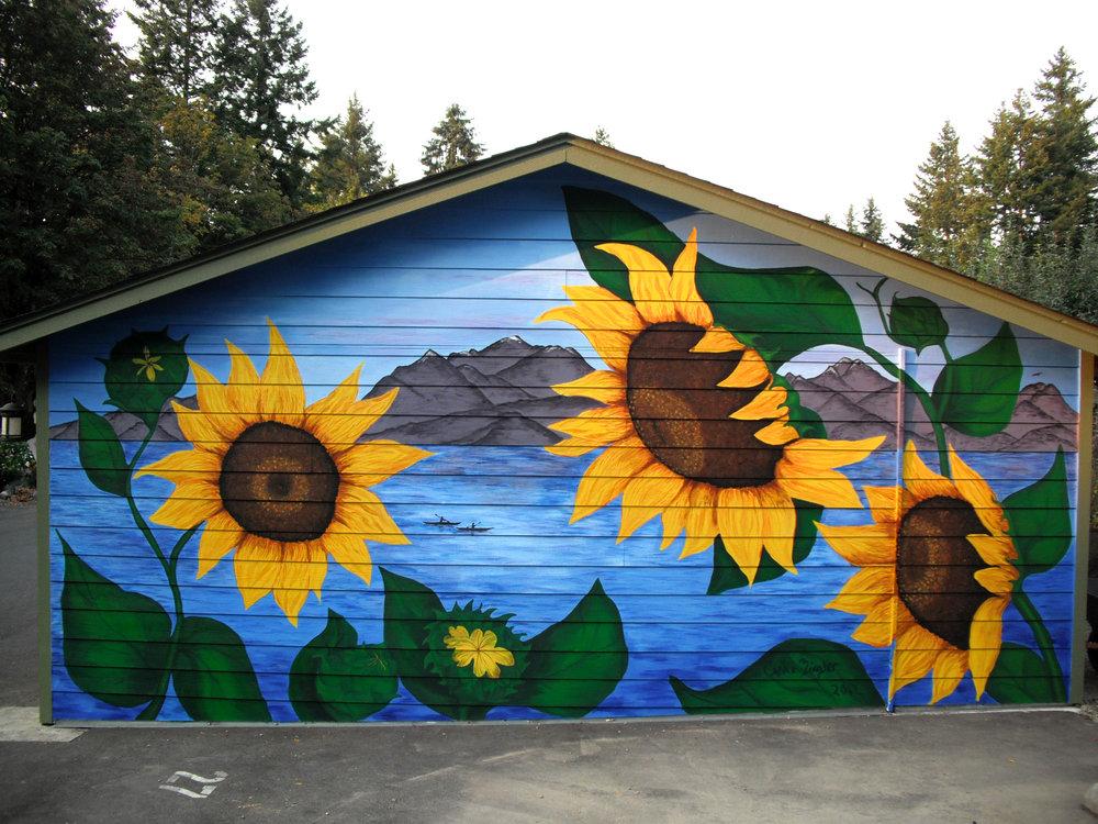Sunflowers Mural
