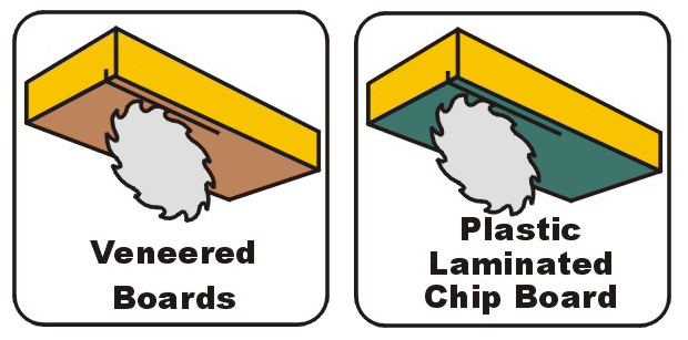 Scoring blades - veneered boards & plastic laminated chip board