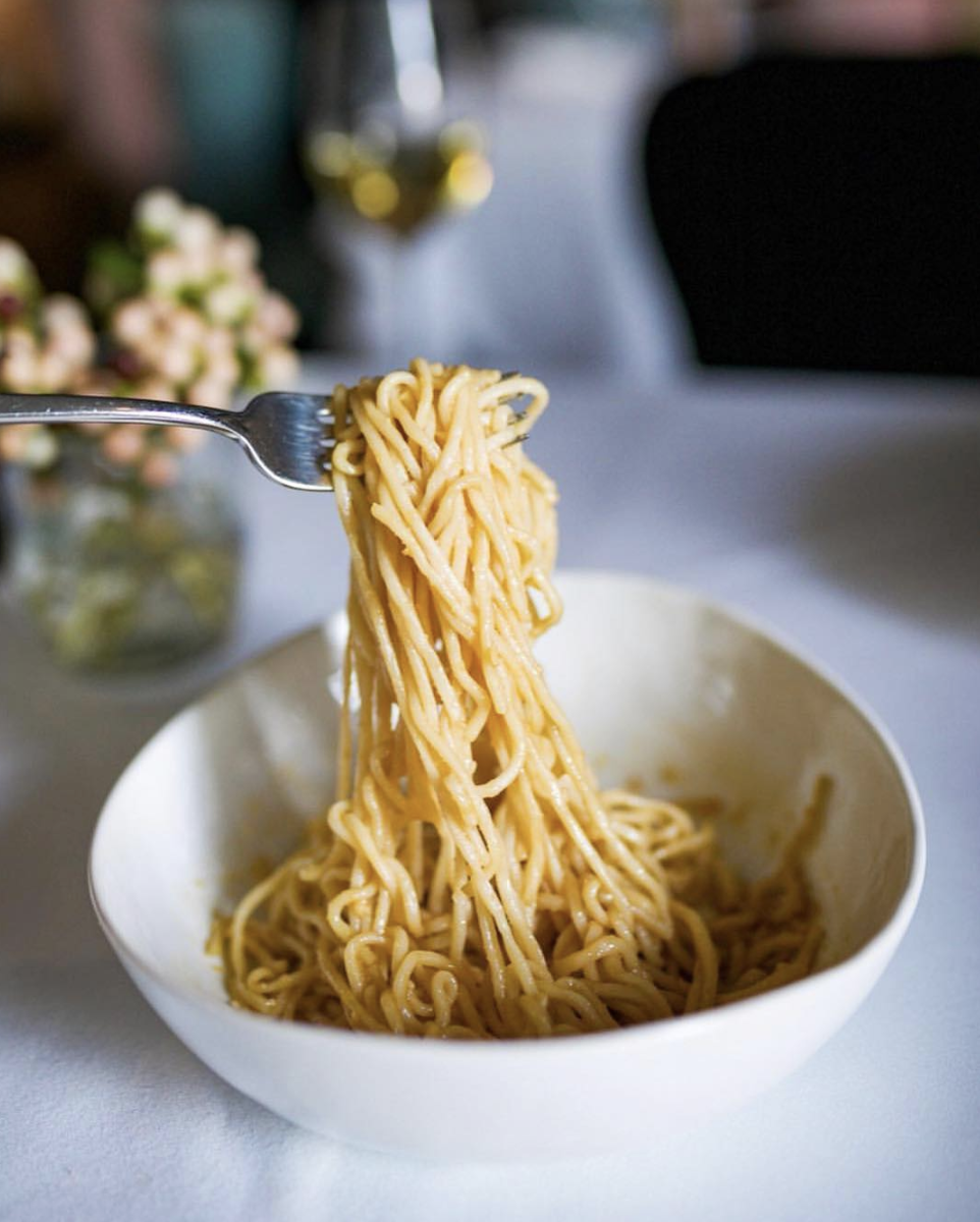 The An family classic dish: - garlic noodles