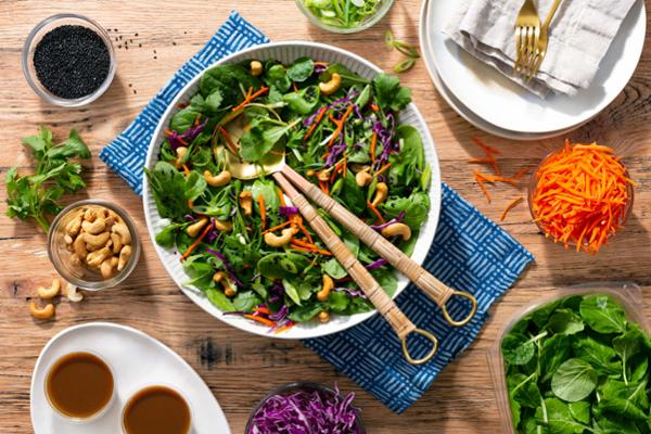 rainbow asian salad - fresh asian style flavors in a bowl