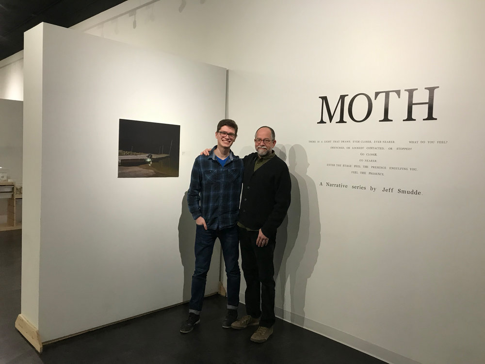 With Bill O'Donnell, my photo professor