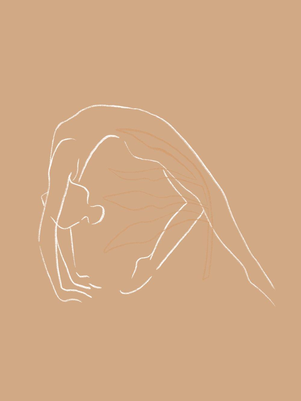 Asana - Simple illustration depicting various asana postures.