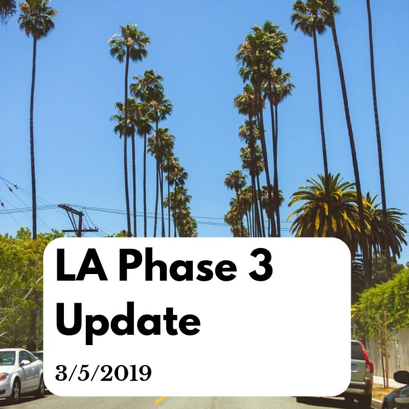 Update on LA Phase 3 cannabis licensing - 3/5/2019