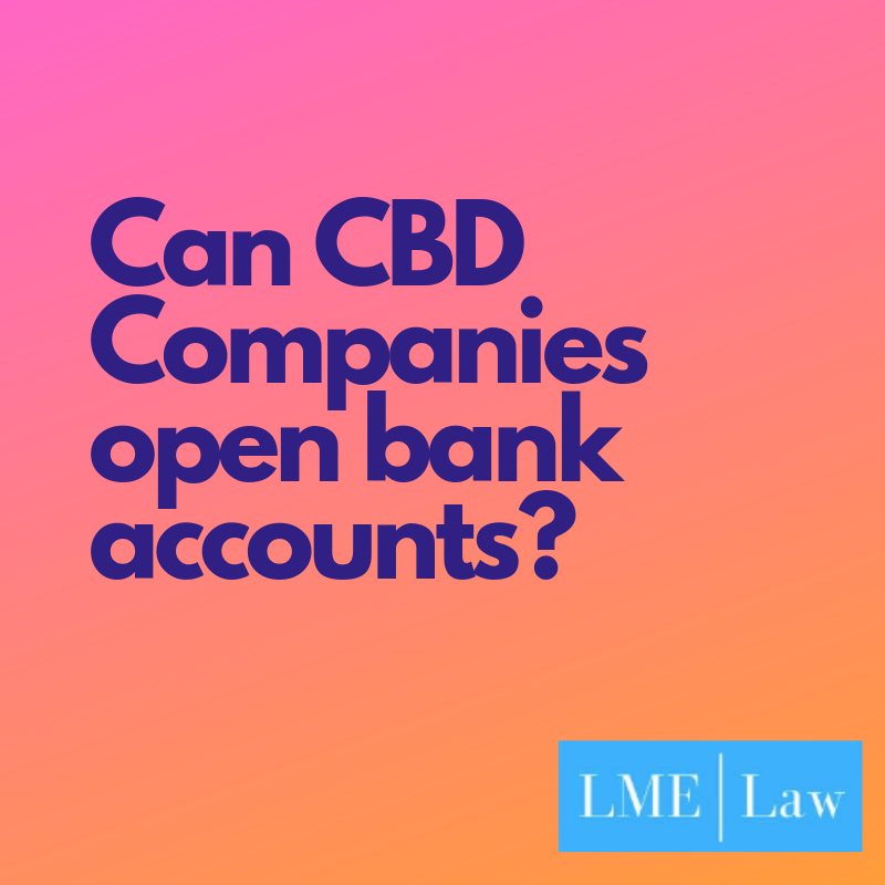 Can CBD companies open bank accounts and deduct business