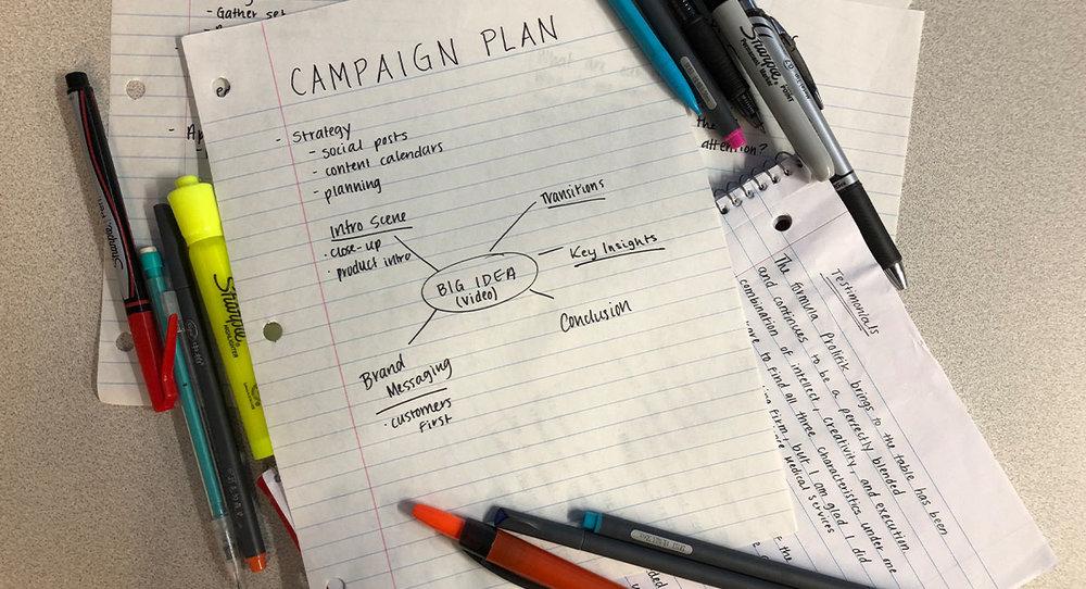 Video Campaign Plan