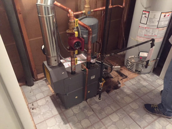 Replacement boiler installatio n