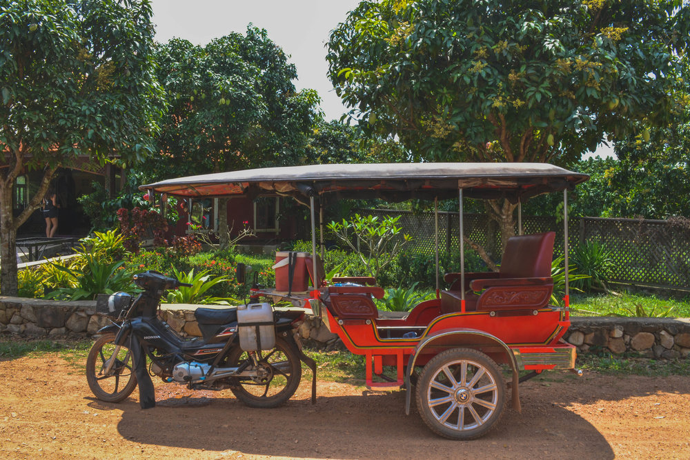Our tuk-tuk for our tour of Kampot