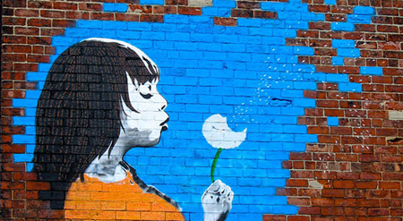 Make a Wish: Bentley Street Art, Right Up Our Street © C. Swain