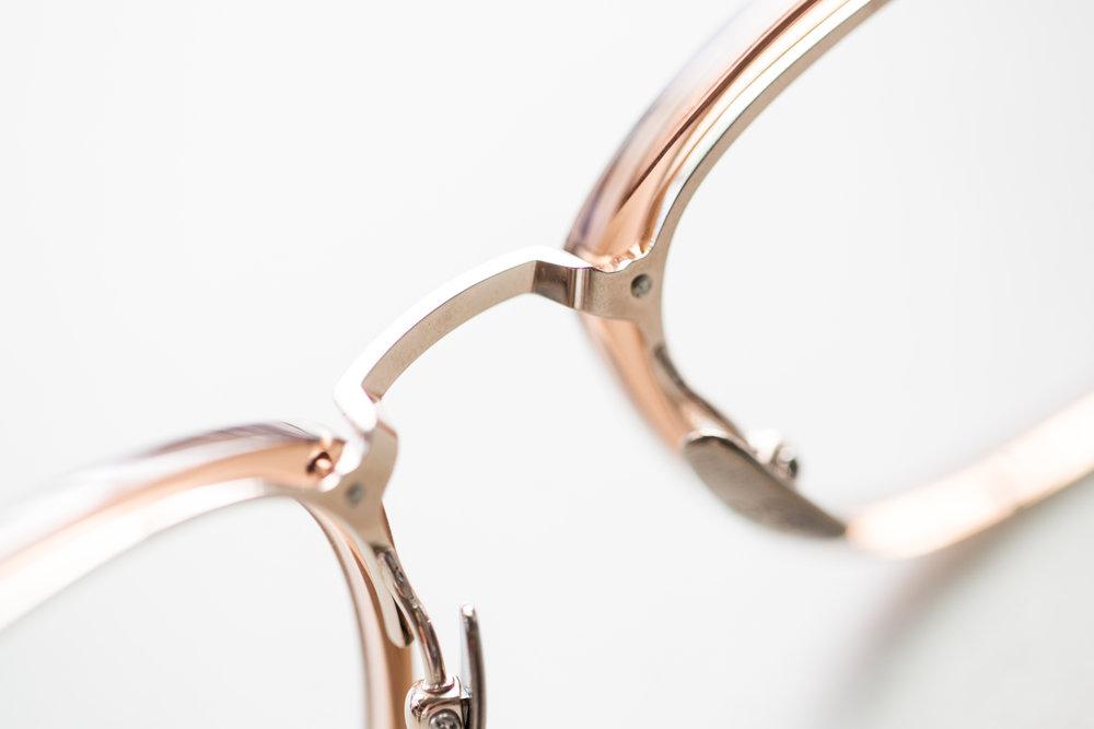 Japanese Titanium frames with bridge nose mount