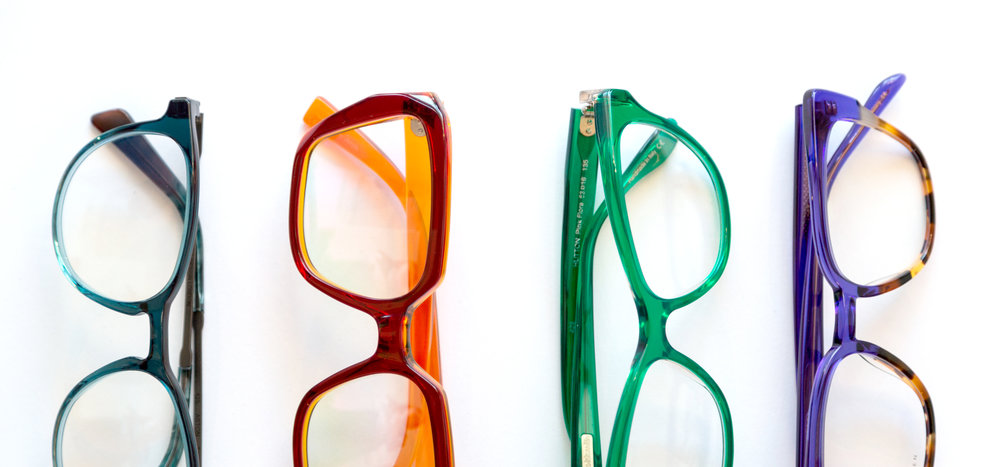 colourful group shot of frames