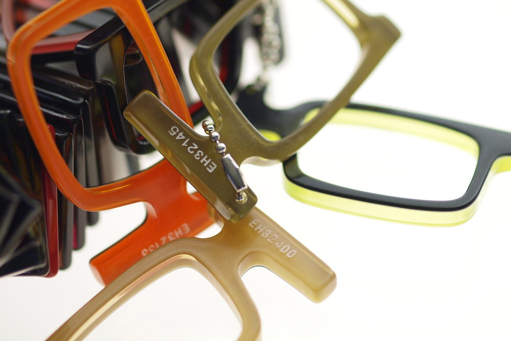 hand crafted zyl acetate frames