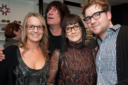 Our wonderful dispensing optician, Kerry Webster with Jordan and Rita Luck and Jordan Arts