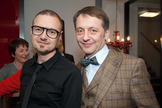 The stars of High Street. Richard Walker our High St. eyewear guru and Andrew Swann jewellery designer