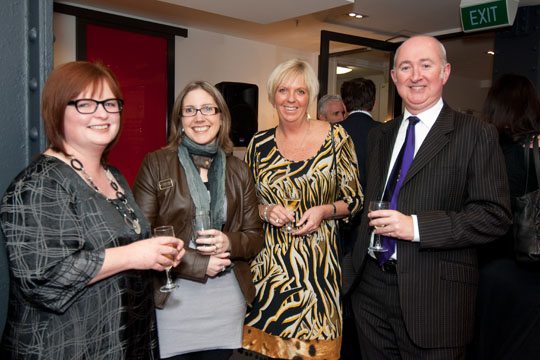 Kay McFarlane with Newmarket's Business Stars, Michelle Wratten, Lea Worth and Carl Sowter
