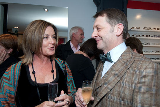 Our designer, Liz Kerby with Andrew Swann
