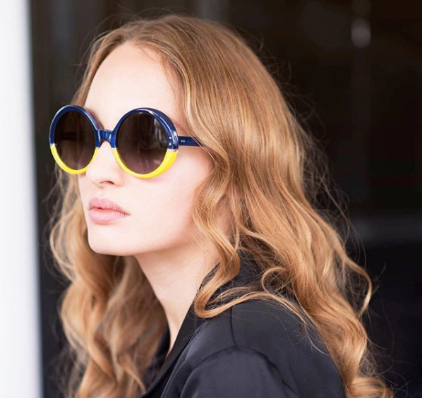 940c7dd93cd Ride that 70 s vibe with Oliver Goldsmith Oops in Navy Canary – Originally  designed in 1973