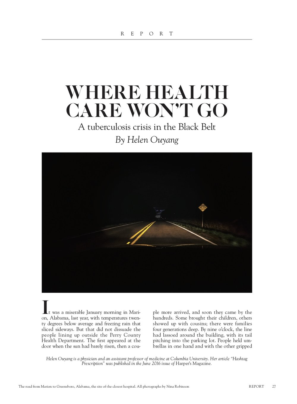 Nina Robinson for Harper's Magazine