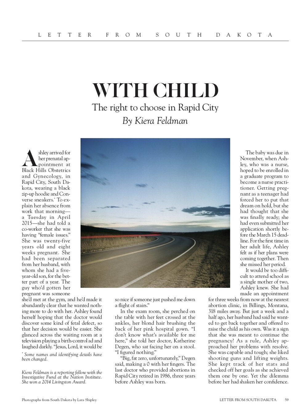 Lara Shipley for Harper's Magazine