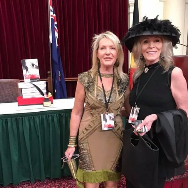 One of our big supporters - Sandra Pankhurst at the launch of the book at Victorian Parliament House. #stalkedthehumantarget #victorianparliamenthouse