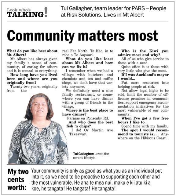 Community matters most