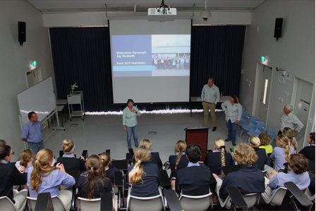 - SCF staff presenting the Student-Connect program to staff and students of the WA College of Agriculture, Denmark.