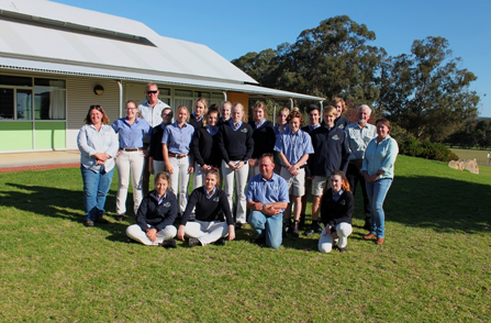 - SCF Staff - Dr Christine Kershaw, Dr Kathi McDonald, Nathan Dovey and John Blake, with teacher, Stuart Irwin, and students of the WA College of Agriculture, Denmark at the launch of the new Student-Connect program.