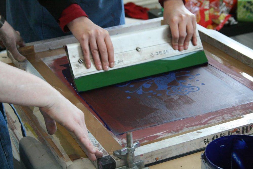Silk Screening Art Activity!