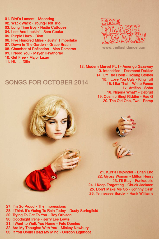 SONGS FOR OCTOBER 2014 — The Flashdance