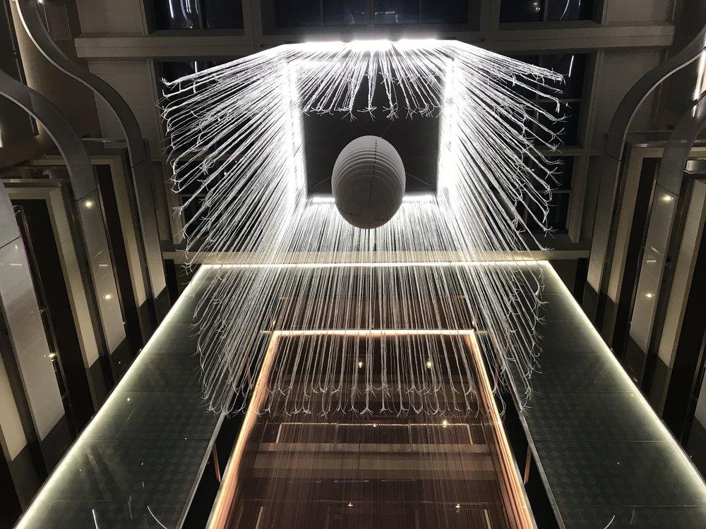 Futuristic architecture in the lobby