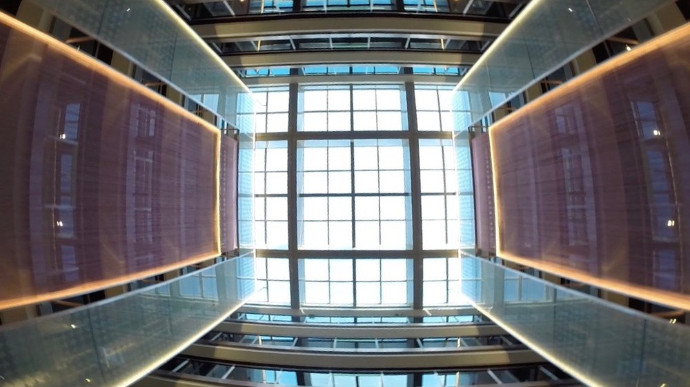 Each wing had its own atrium with excellent natural light