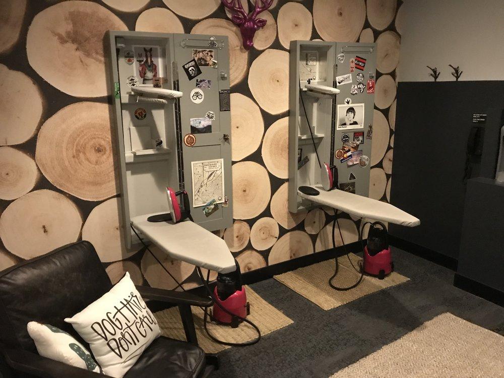 Communal ironing space