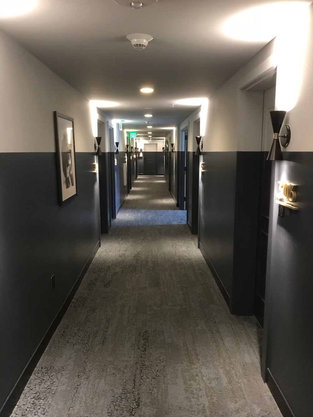 Hallway leading to the elevator