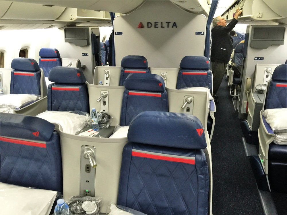 Seats B and C are best when traveling with a partner, but are slightly awkward if traveling alone. Each of the 36 seats in the Delta One cabin have direct aisle access