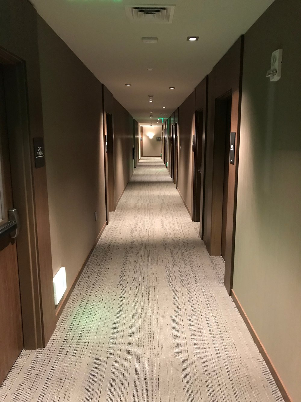 Hallway from the elevator