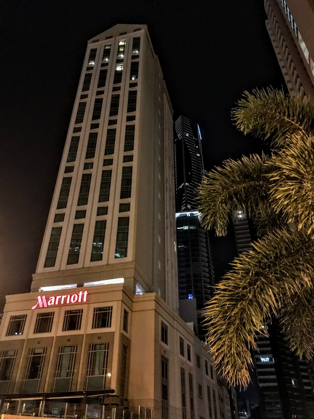 The Brisbane Marriott Hotel in the Central Business District of Brisbane, Australia