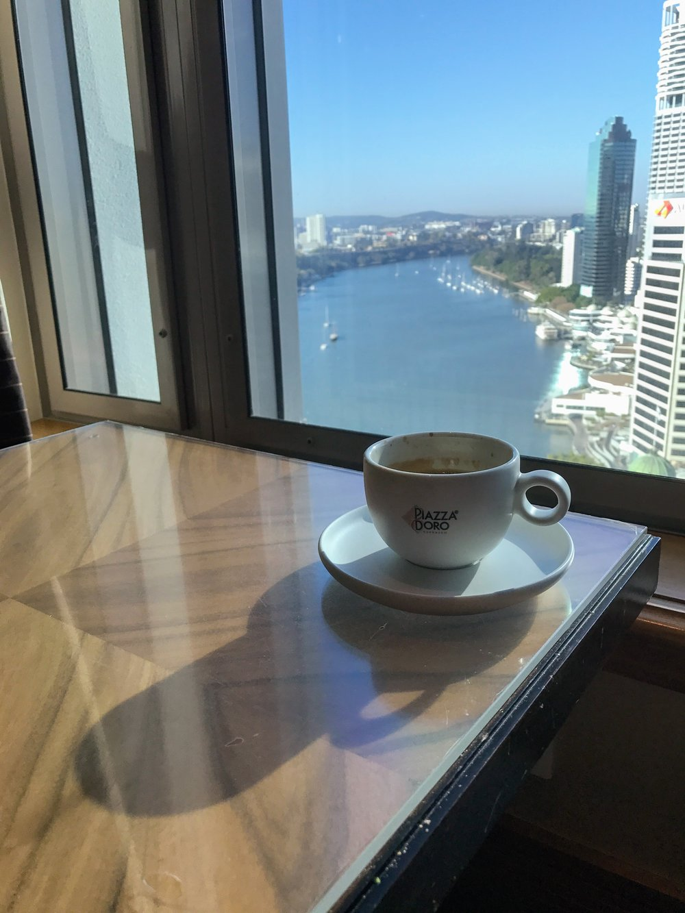 Coffee was available 24 hours a day. The views from the Lounge were fantastic.