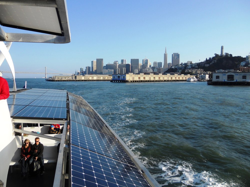 The boats have an open upper deck, that offer excellent views of Alcatraz and downtown San Francisco